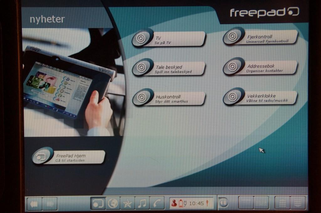 FreePad styring av hjemmet